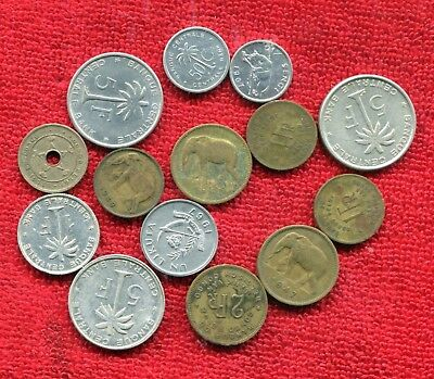 Belgian Congo Lot Of 14 Coins Elephants 8.95