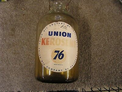 Vintage Union 76 Kerosene Bottle w/Handle FREE Shipping