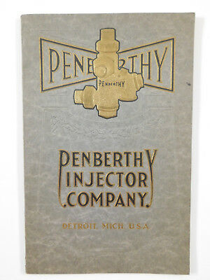 Vintage PENBERTHY Catalog Injector Ejectors Oilers Pumps for Steam Engines 1920s