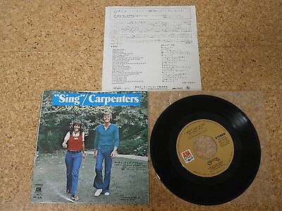Carpenters ~ Sing ~ I won't Last a Day without You/ Japan 7""