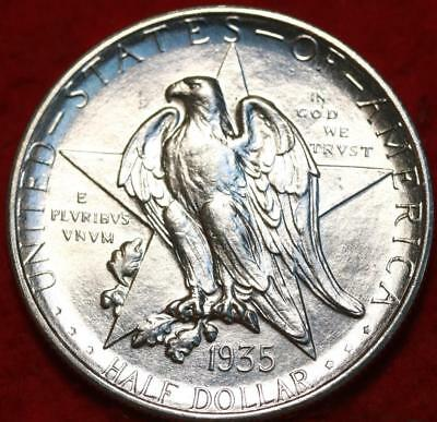Uncirculated 1935-S San Francisco Mint Texas Silver Comm Half Free S/H