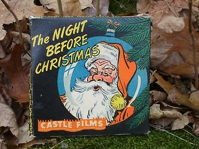 """Vintage Castle Films 8 Mm Movie  """"the Night Before Christmas""""    Santa On Cover"""