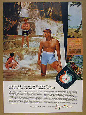1960 Art Pinder & Warren Miller photo Jantzen Swimwear swimsuit vintage print Ad