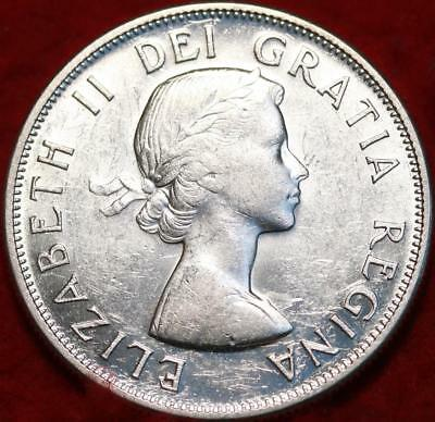Uncirculated 1958 Canada 50 Cents Silver Foreign Coin Free S/H