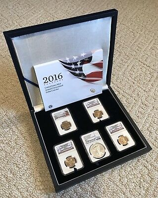 New King of Silver Eagles 2016 W Burnished Silver Eagle Annual Dollar Set MS70