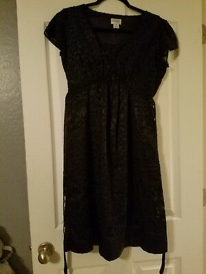 Motherhood maternity black dress size M