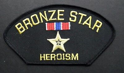 Bronze Star Embroidered Cap Shoulder Patch 5.25 X 3 Inches