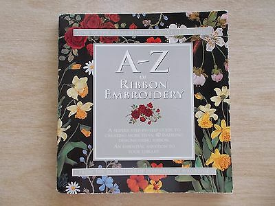 A-Z of Ribbon Embroidery~Country Bumpkin~Step-By-Step Photos~128pp Spiral P/B