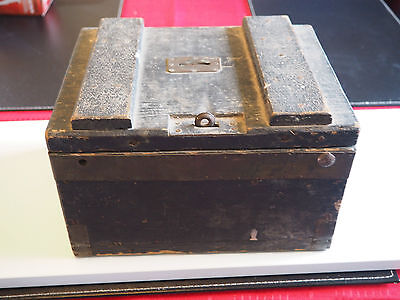 Antique Wooden Poor Box / Honesty Box  - From Church