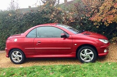 Red Peugeot  206 1.6 Convertible Coupe  Cabriolet Cc Allure Low Mileage