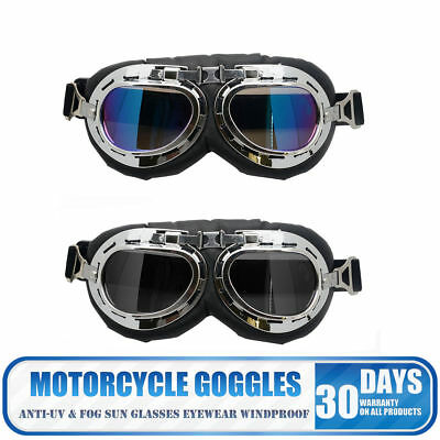 Harley Goggles Aviator Flying Style Baron for Motorcycle Open Face Helmets