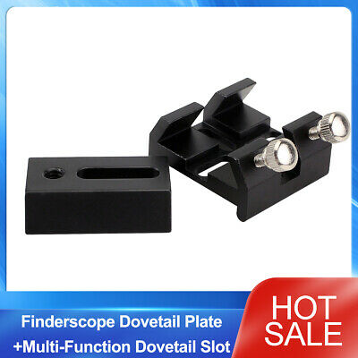 Finderscope Dovetail Plate+Multi-Function Dovetail Slot For Optical Telescope US