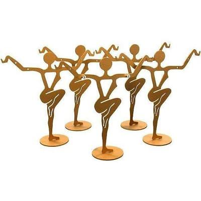 "Earring Dancer Display Stands Gold Color 4 3/4"" 5Pcs"