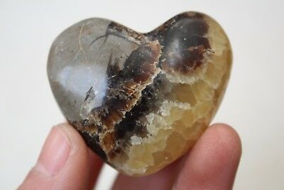 TOP!!! 55g NATURAL Dragon Septarian Stone Crystal carved heart Healing