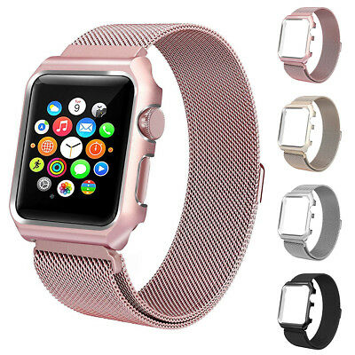 Milanese Stainless Steel Band Strap  Cover For Apple Watch Band iWacth 38/42mm