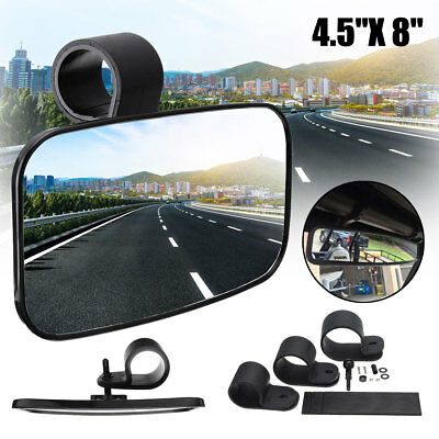 8'' Clear Rear View Center Convex Mirror For ATV UTV Off Road Wide Adjustable