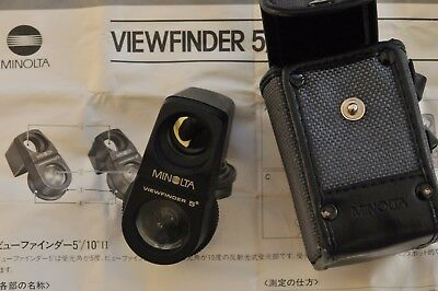 MINOLTA 5 degree SPOT  METER VIEWFINDER for attaching to Minolta meters with inv