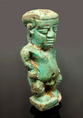 Very Large Egyptian Faience Amulet Of Ptah (L500)