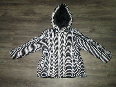 Girls Kenzo Black/white Reversible Padded Jacket Age 6Yrs Small Fitting Ex.cond