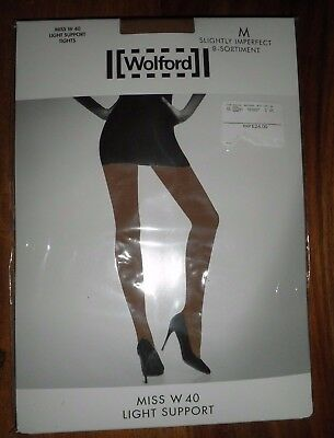 Wolford Miss W 40 Light Support Tights Caramel  Size M UK 12/14