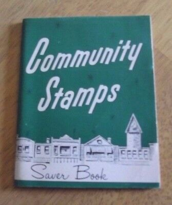 VINTAGE COMMUNITY GIFT BOND STAMP BOOK CLEVELAND OHIO w/ few STAMPS ON ONE PAGE