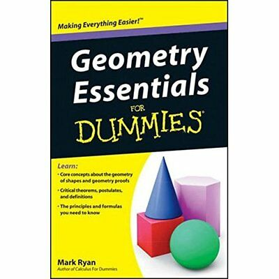 Geometry Essentials For Dummies (For Dummies - Paperback NEW Mark Ryan 2011-06-0