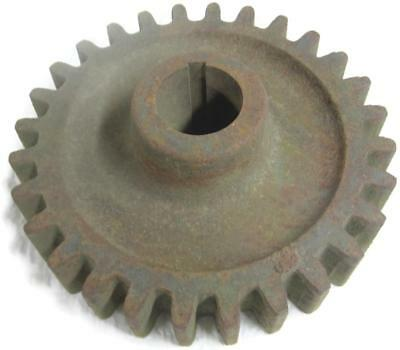 Old Rusty Cast Iron Pulley Sprocket Gear Primitive 8.5 Inch Lamp Base 15.5 lb