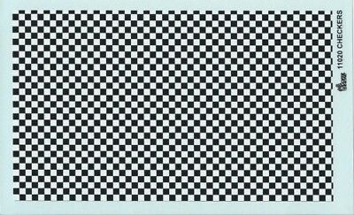 Gofer 11020 Black and White Checker Pattern Decal Sheet 1/24 and 1/25
