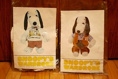 Vintage-Snoopy's Wardrobe-New In Pkgs.-Sheriff-Come Hike With Me-Outfits-Clothes