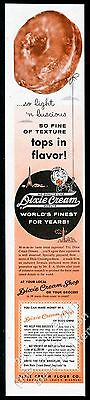 1956 Dixie Cream donut doughnut photo vintage print ad