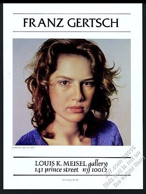 1987 Franz Gertsch photorealistic woman painting NYC gallery vintage print ad