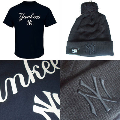 New York Yankees Series Sweep Officially Licenced MLB T shirt+ Jacquard Knit Hat