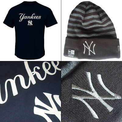 New York Yankees Series Sweep Officially Licenced MLB T shirt + Rev Knit Hat