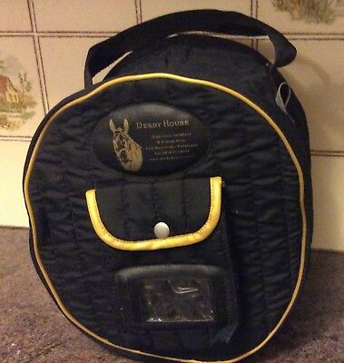 Riding Hat Quality Quilted Travel Bag Black Derby House