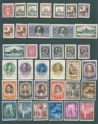VATICAN CITY Mint stamp collection 1933-1950