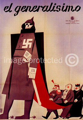 Spanish Civil War Vintage Reproduction El Generalisimo 11x17 Print