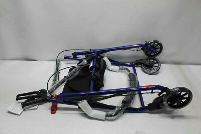 "Roscoe Medical RL-STBL Steel Rollator/Rolling Walker with 6"" Wheels, Blue"
