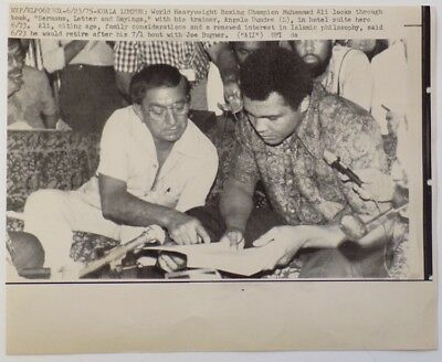 Muhammad Ali 1975 AP Wire Angelo Dundee Photo