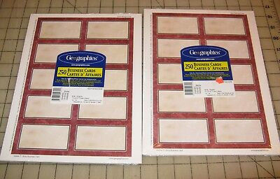 2 Geographics SICILY 250-Ct BUSINESS CARDS Packs - Unopened - NEW