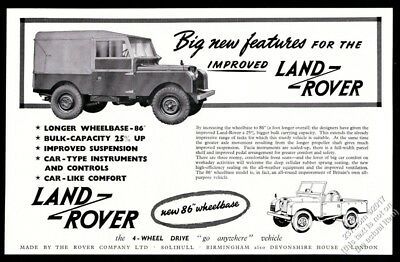 1954 Land Rover photo vintage print ad