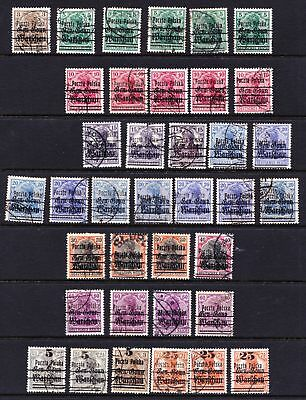 POLAND 1918 German Occupation Double Overprints - Used selection - (143)