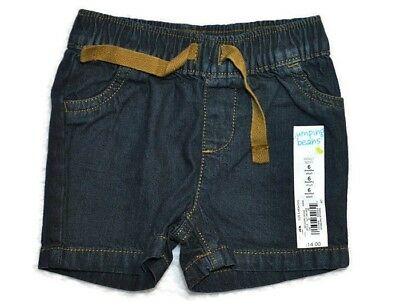 NEW JUMPING BEAN Boys COTTON Spring Summer Dark Denim Jean Shorts Sz 6 Months