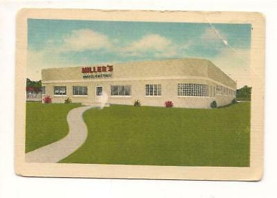 Calling Card For Miller's Garment Factory Men and Womens Wear Baxley Georgia