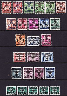 Poland 1940 General Government Overprints on Polish stamps - Mint hinged - (131)