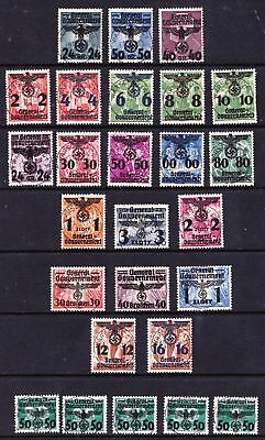Poland 1940 General Government Overprints on Polish stamps - Used - (23)