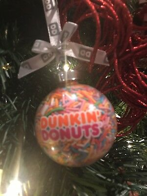 2015 Very Rare!!! Dunkin Donuts Sprinkles Ornament~Christmas Gift~New In Box