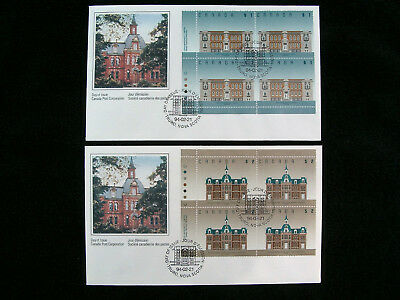 Canada, 1992-95 Plate Blocks of Fruit Trees/Architecture on FDCs