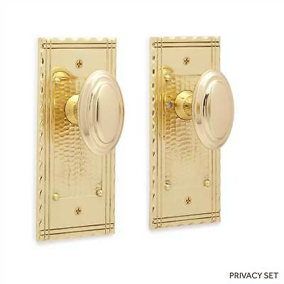 Duclos Hammered Door Plate & Graduated Oval Knob Set Privacy  Passage and Dummy