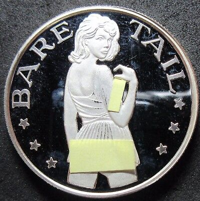 Bare Tail 1 Troy Ounce .999 Fine Silver Round