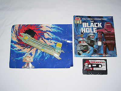 Walt Disney's The Black Hole Read Along Book and Cassette Tape with Diorama